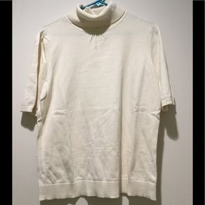 Ann Taylor Loft- Off White Sweater-Size-XL